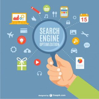 Search Engine Optimization Concept Free Vector