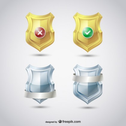 Security Shields Pack Free Vector
