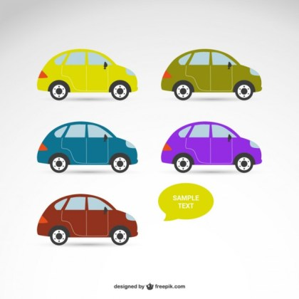 Set of Cars Free Vector