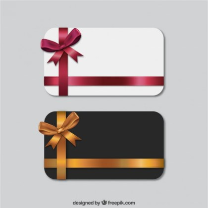 Set of Gift Cards Free Vector