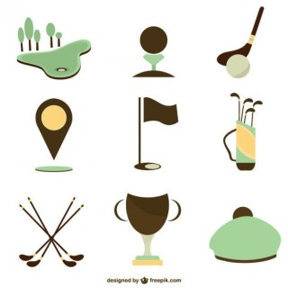 Set of Golf Icons Free Vector