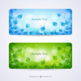 Set of Two Spring Banners Free Vector