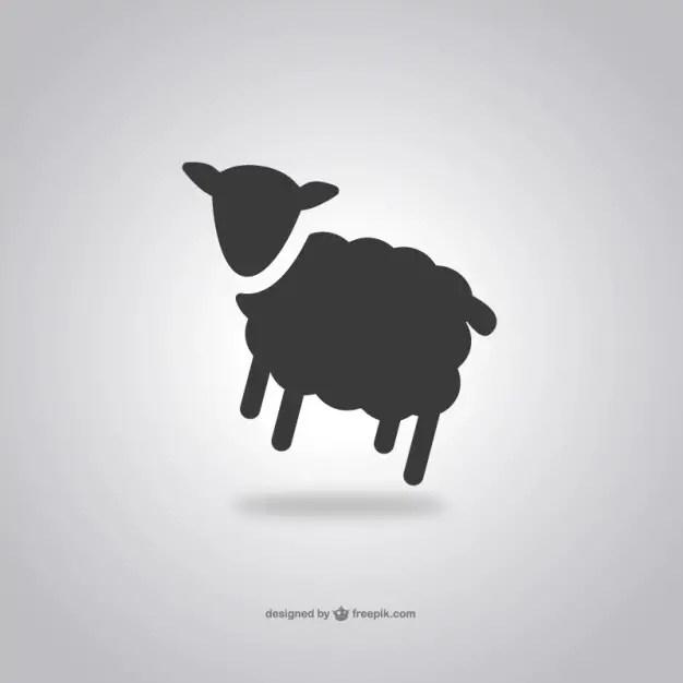 Sheep Icon Free Vector