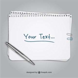 Sheet of Paper Template Free Vector