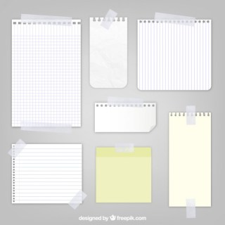 Sheets of Paper with Sticky Tape Free Vector
