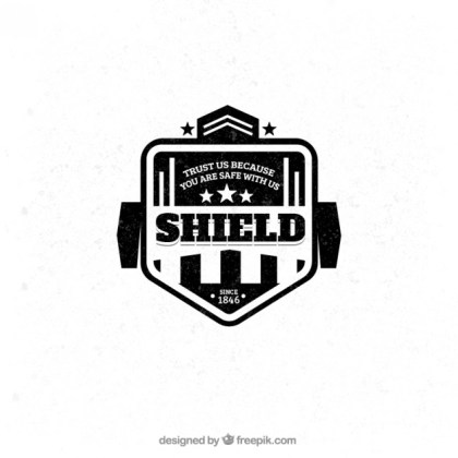 Shield Badge Free Vector