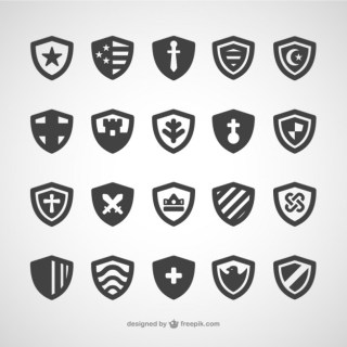 Shields Icon Pack Free Vector