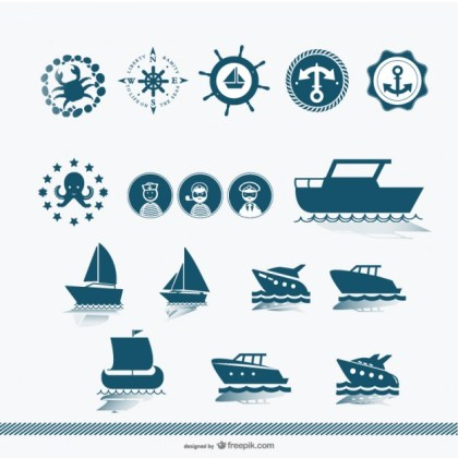 Ship Silhouette Free Vector