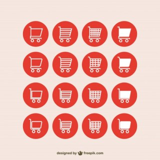 Shopping Cart Icons Free Vector