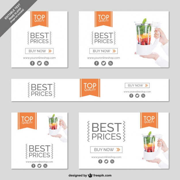 Shopping Online Minimalist Banner Free Vector