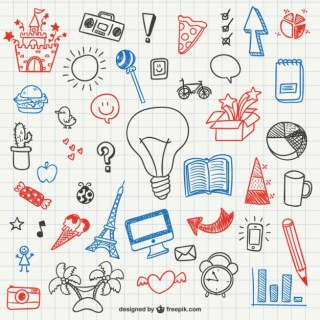Simple Doodles Collection Free Vector