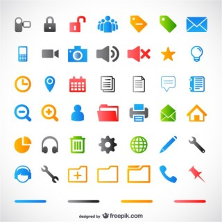 Simple Small Icon Material Free Vector
