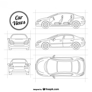 Sketchy Car Free Vector