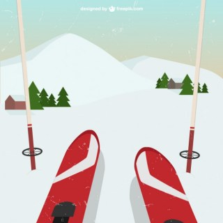 Skiing Perspective Free Vector