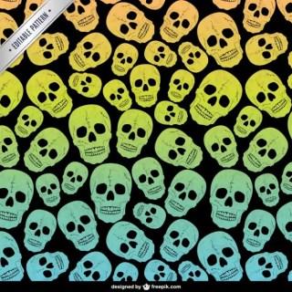 Skulls Editable Pattern Free Vector
