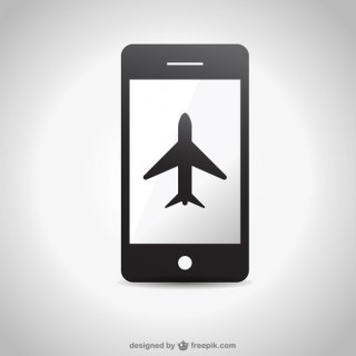 Smartphone Plane Icon Free Graphics Free Vector