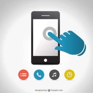 Smartphone Touch Screen Free Free Vector