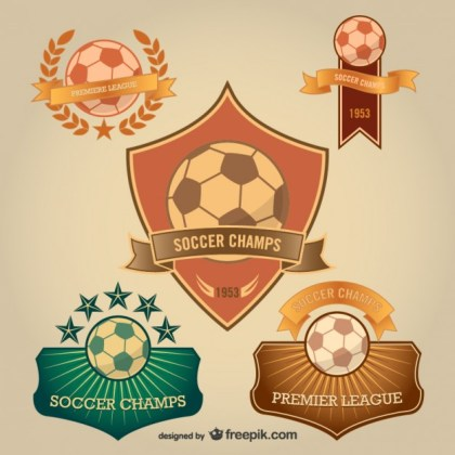 Soccer Badges Free for Download Free Vector