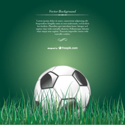 Soccer Ball in Grass Free Vector