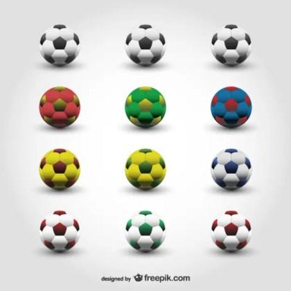 Soccer Balls Free Vector