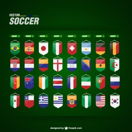 Soccer Flags Free Free Vector