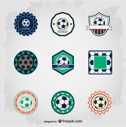 Soccer Free Badges Free Vector