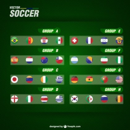 Soccer Groups Free Vector