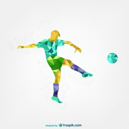 Soccer Player Abstract Template Free Vector
