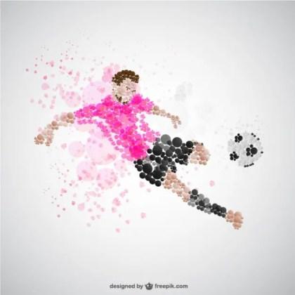 Soccer Player Kick Free Vector