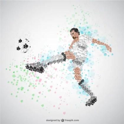 Soccer Player Kicking Ball Free Vector