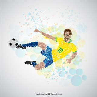 Soccer Player on Offense Free Vector