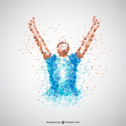 Soccer Player Victory Concept Free Vector