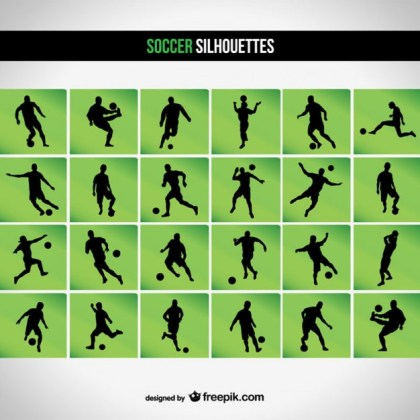 Soccer Silhouette Free Vector