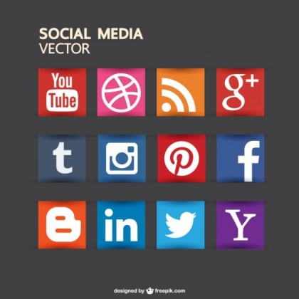 Social Media Buttons Free for Download Free Vector