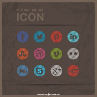 Social Media Flat Buttons Free Download Free Vector