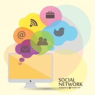 Social Media Flat Template Free Vector