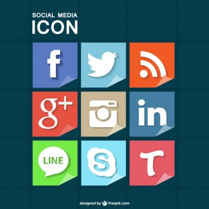 Social Media Icons Free for Download Free Vector