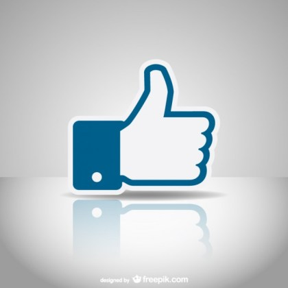 Social Media Like Icon Free Vector
