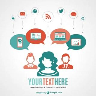 Social Media Online Network Free Vector