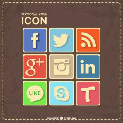 Social Media Retro Leather Design Free Vector