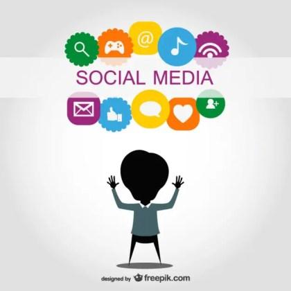 Social Media Symbols Design Free Vector