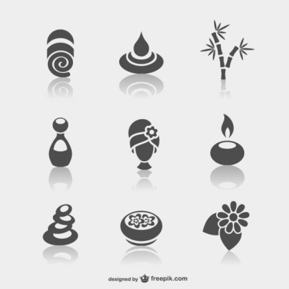 Spa Minimal Icons Free Vector