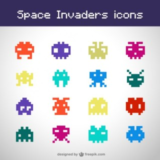 Space Invaders Free Icons Free Vector