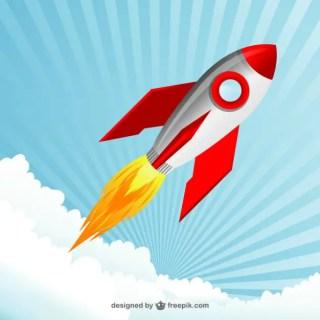 Space Rocket Free Vector