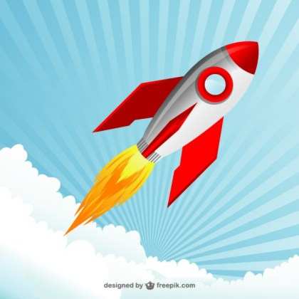 Space Rocket Free Vector