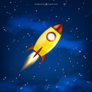 Space Rocket Launch Free Vector