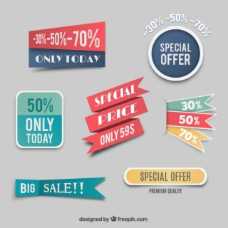 Special Price Labels Free Vector