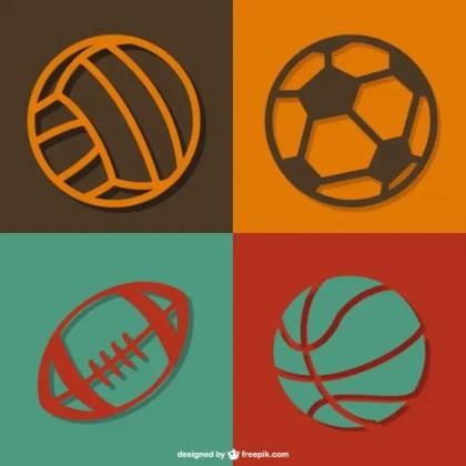 Sports Balls Free Vector