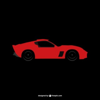 Sports Car Logo Free Vector