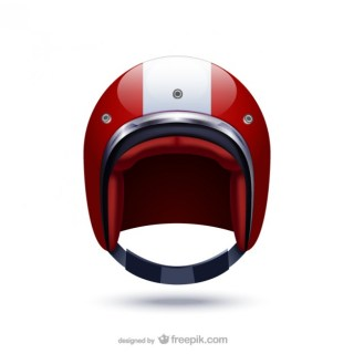 Sports Helmet Illustration Free Vector